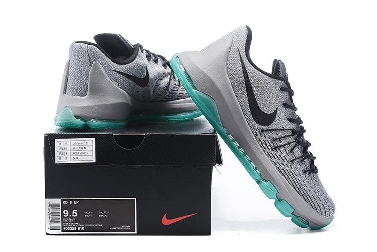 Nike KD 8 Fluorscent Grey Green Basketball Shoes