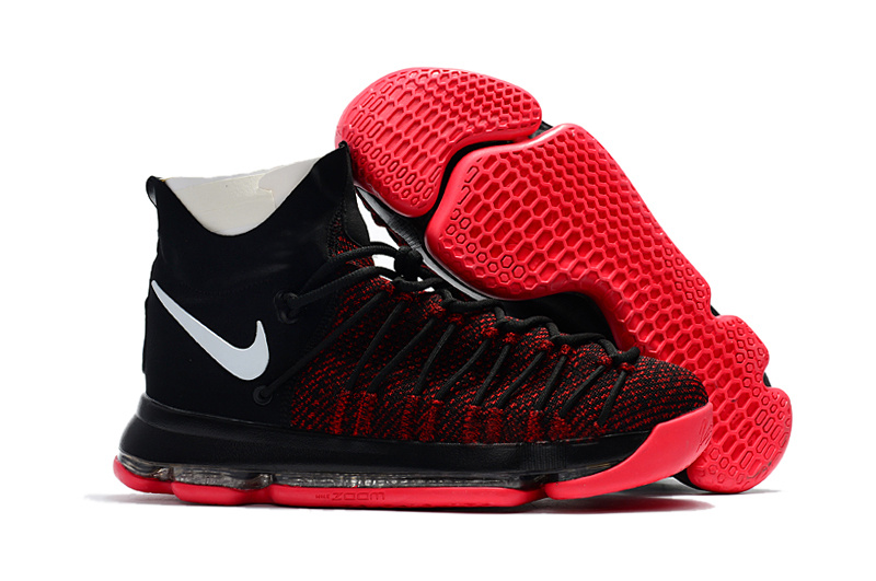 Nike KD 9 Elite Mid Black White Red Shoes