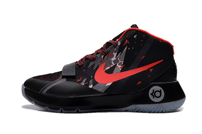 New Nike KD TREY III Black Red Sneaker For Sale