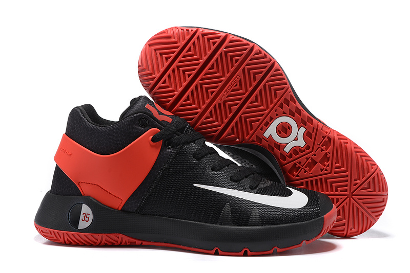 Nike KD Trey 5 Black Red White Swoosh Shoes