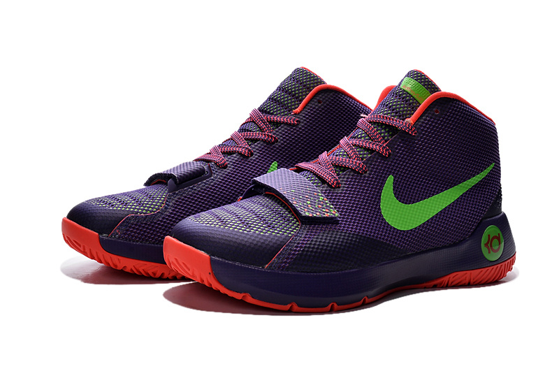 Latest Nike KD Trey 5 III Purple Orange Green Sneaker
