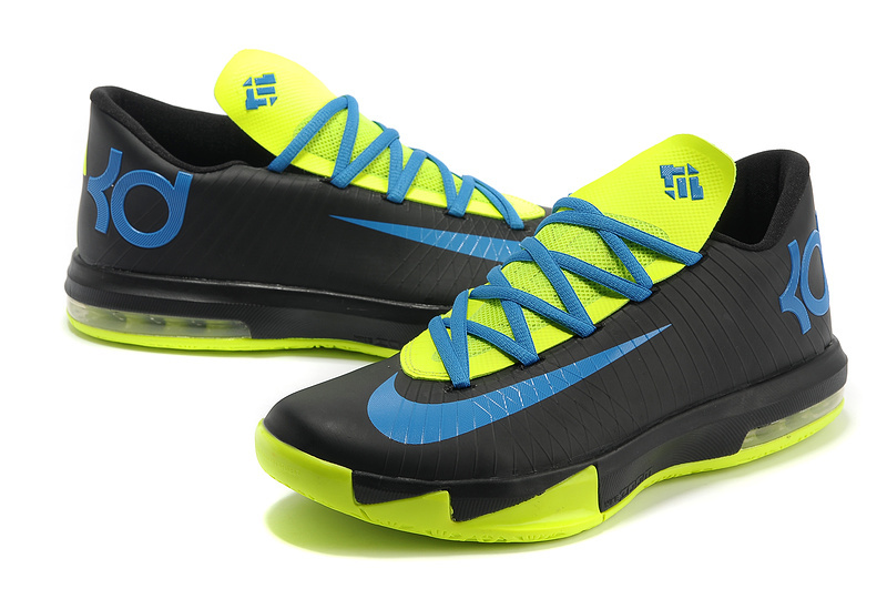 Nike Kevin Durant 6 Original Black Green Blue Shoes