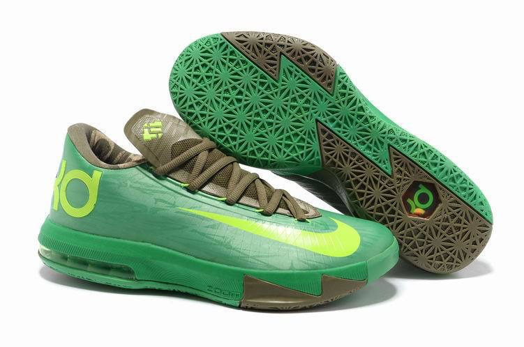 Nike Kevin Durant 6 Original Green Yellow For Shoes