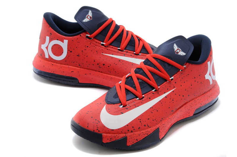 Nike Kevin Durant 6 PS MVP Classic White Red Blue White Shoes