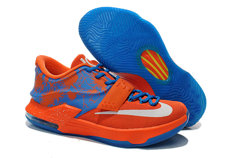 Nike Kevin Durant 7 Original Orange Blue Shoes