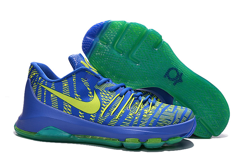 Nike KD 8 Blue Fluorscent Green Shoes