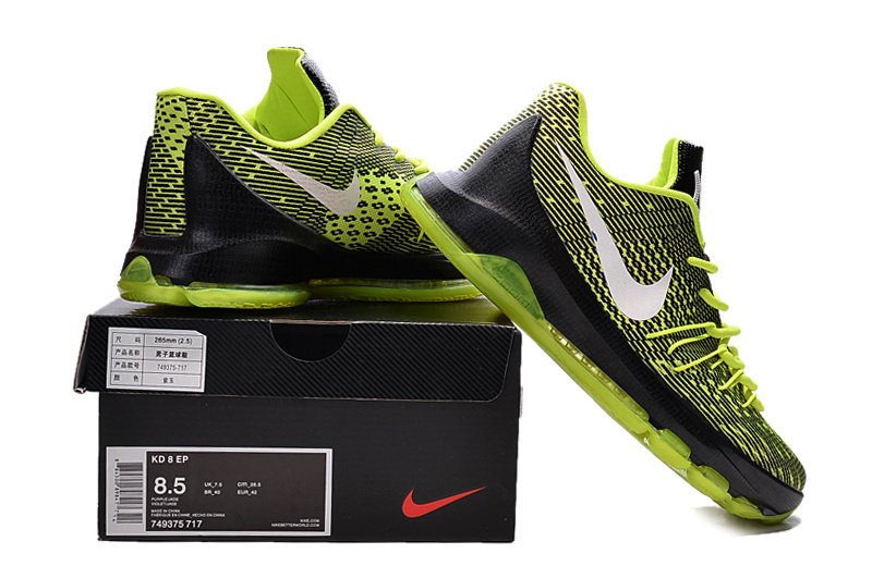 Nike Kevin Durant 8 Fluorscent Green Black White Shoes
