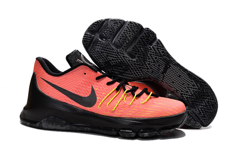 Nike KD 8 Orange Black Yellow Shoes