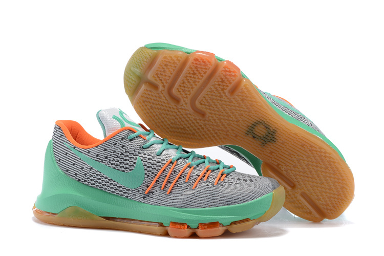 Nike KD 8 White Green Orange Shoes