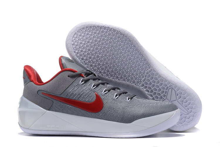 Nike Kobe 12 AD Grey Red Basketball Shoes
