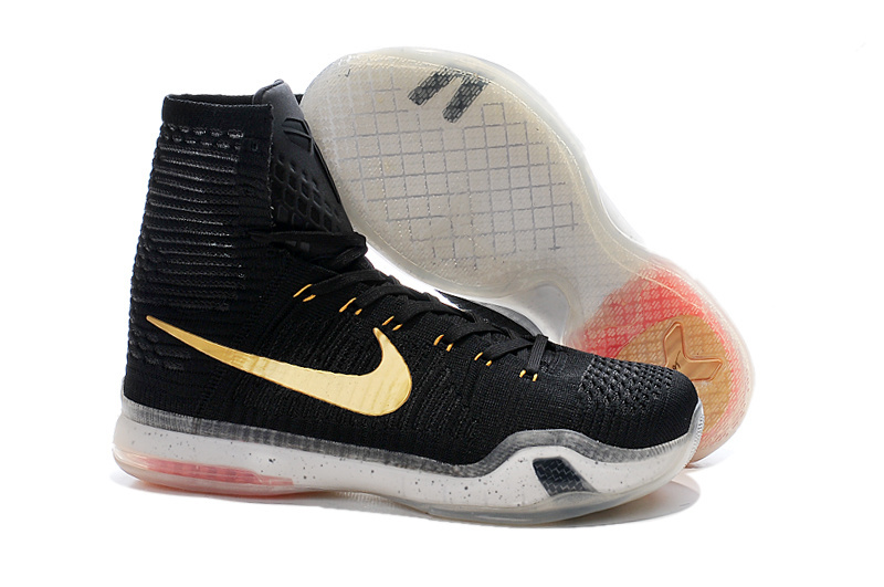 Nike Kobe 10 High Black Gold Shoes