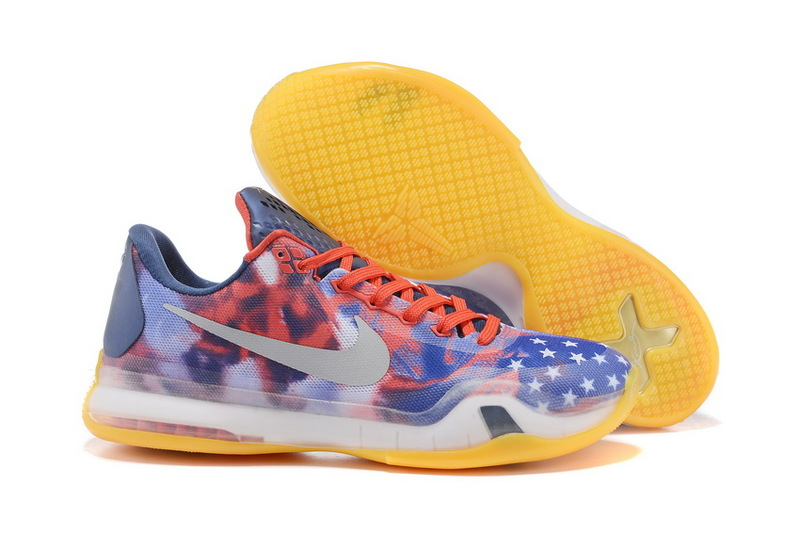 Nike Kobe 10 Indepent Day Red Blue Yellow Shoes