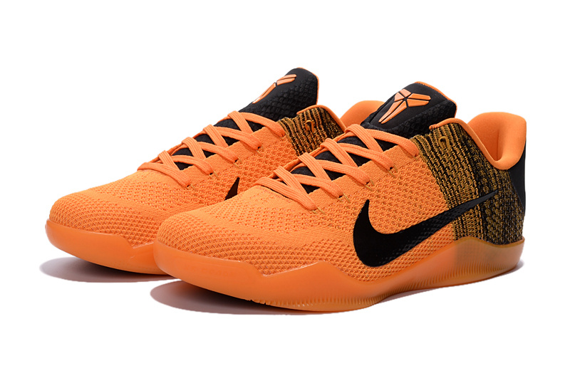 New Nike Kobe 11 Knit Orange Black Shoes On Sale