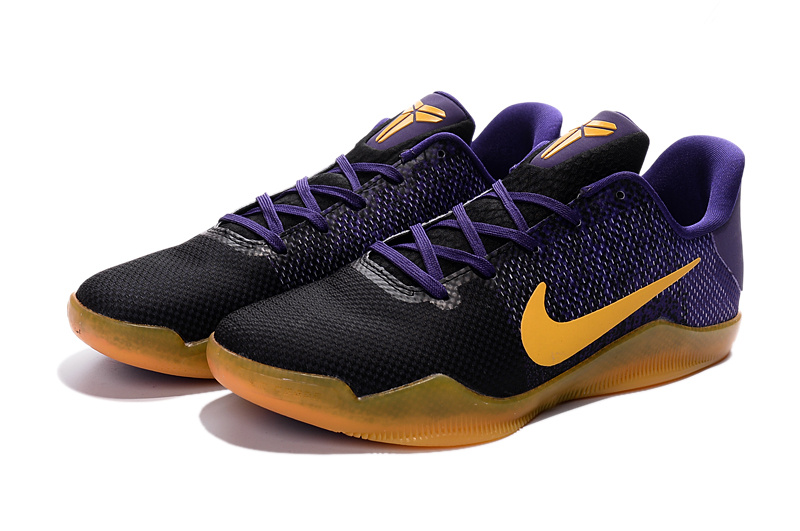 2016 Nike Kobe 11 Purple Black Yellow Shoes For Sale