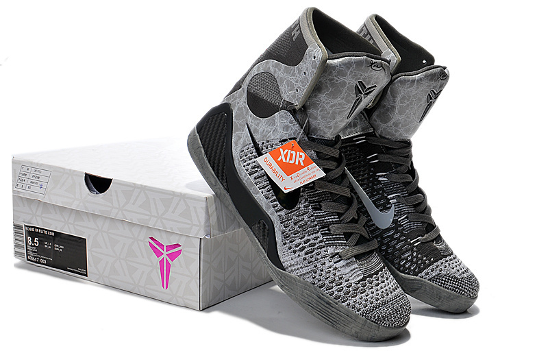 Nike Kobe Bryant 9 High Original Black Grey Shoes