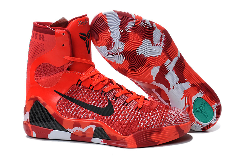 Nike Kobe Bryant 9 High Original Christmas Red Shoes