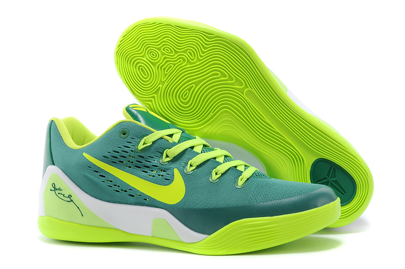 Nike Kobe Bryant 9 Low Original Green Blue Black Shoes