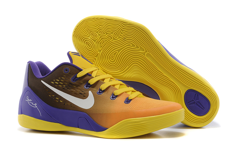 Nike Kobe 9 Low Yellow Orange Purple Shoes
