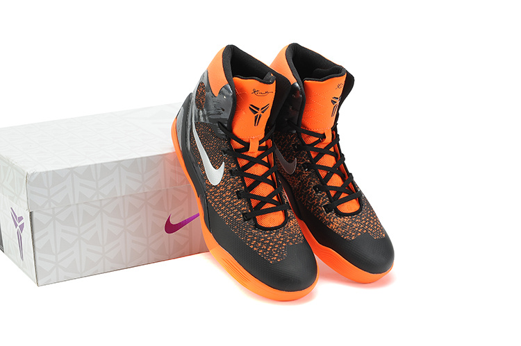 Nike Kobe Bryant 9 Original Middle Black Orange Shoes