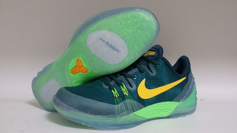 New ike Kobe Venomenon 5 Green Yellow Basketball Shoes
