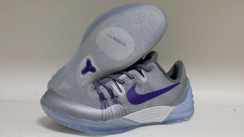 New Nike Kobe Bryant Venomenon 5 Grey Silver Purple Shoes