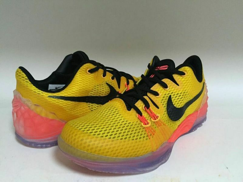New Nike Kobe Venomenon 5 Yellow Black Orange Sneaker For Sale