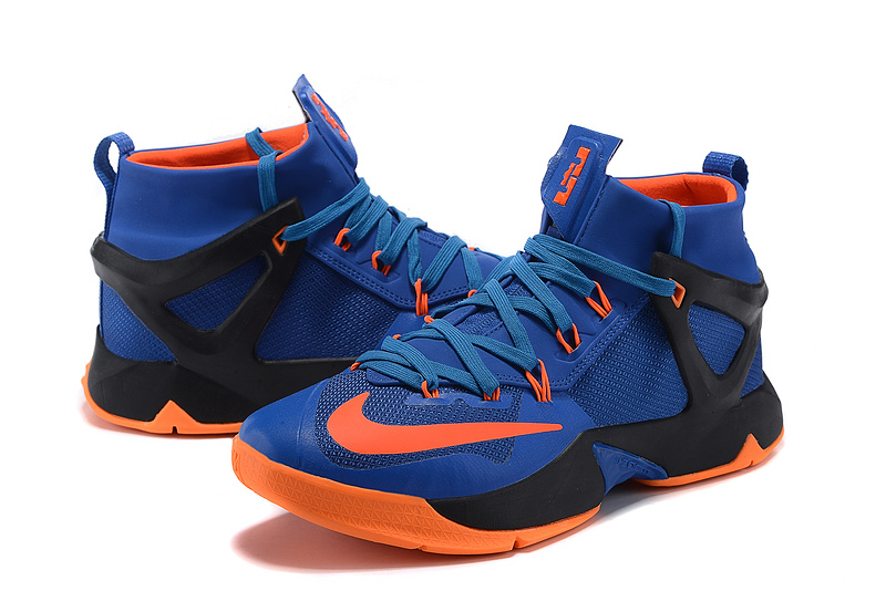 Nike Lebron 13 Blue Black Orange Shoes