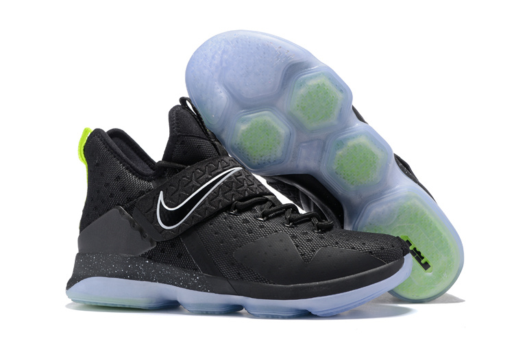 Nike Lebron 14 Black Fluorescent Green Basketball SHoes