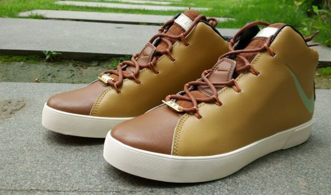 Nike Lebron 12 NSW Lifestyle Shoes Yellow Brown White