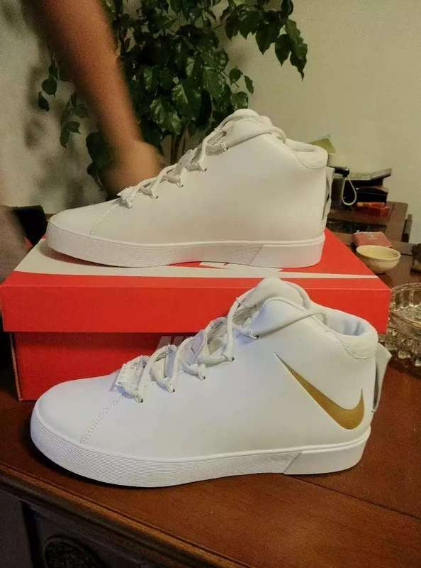 Nike Lebron 12 NSW Lifestyle White Gold Shoes
