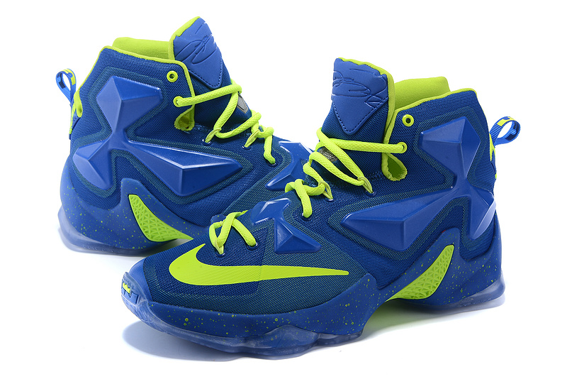 New Nike Lebron 13 Elite Royal Blue Volt Sneaker For Sale