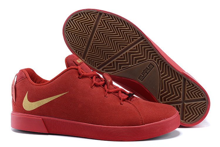 Nike Lebron 12 Low NSW Lifestyle Shoes All Red Gold
