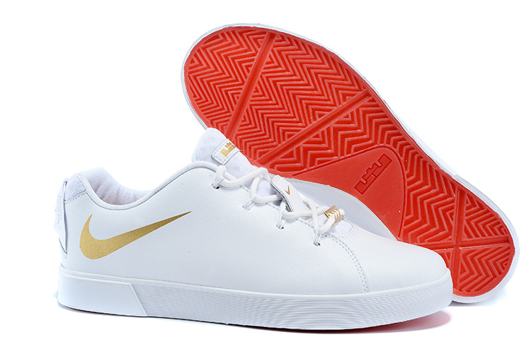 Nike Lebron 12 Low NSW Lifestyle Shoes All White Gold
