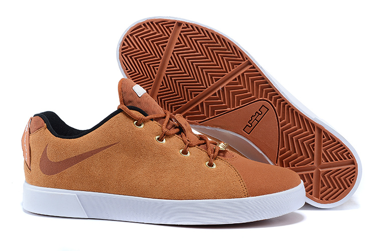 Nike Lebron 12 Low NSW Lifestyle Shoes Brown White