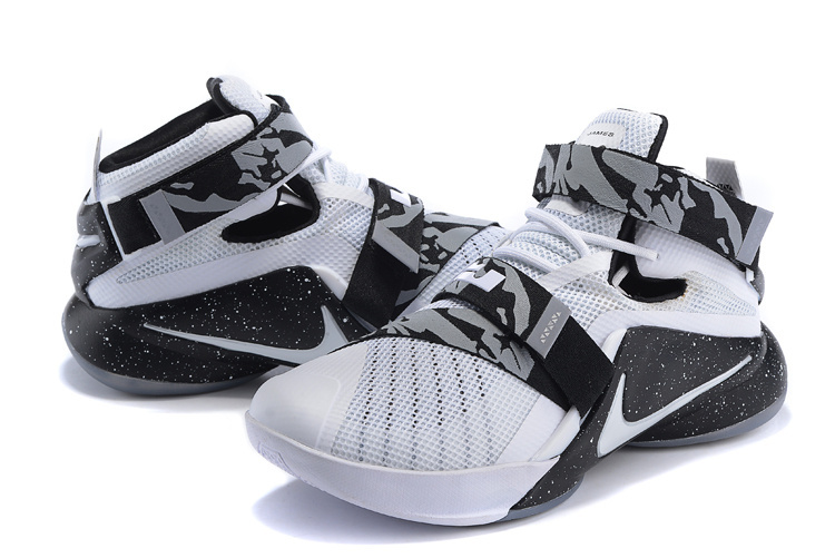 New Nike Lebron Soldier 9 Oreo White Black Sneaker For Sale