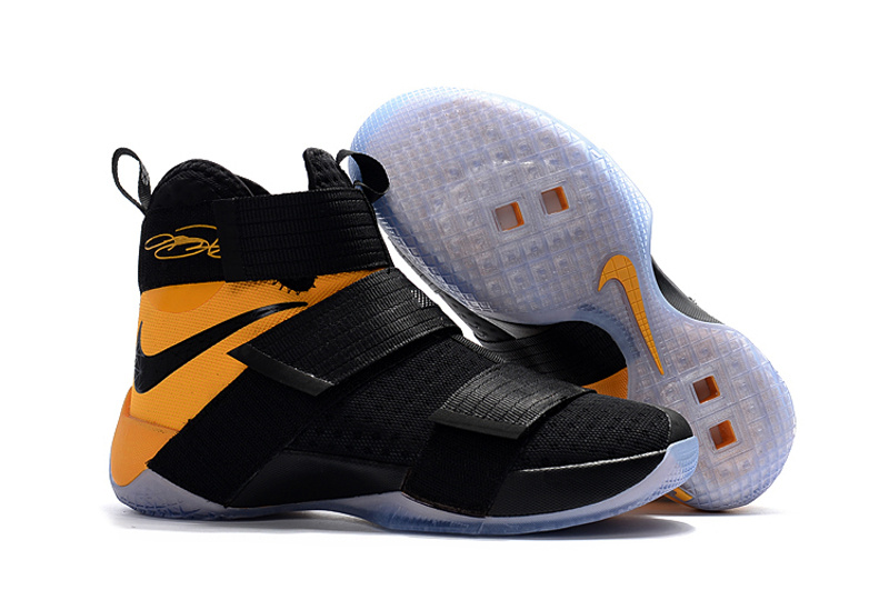 Nike Lebron Solider 10 Game Yellow Shoes