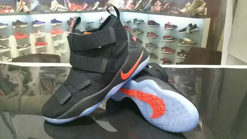 Nike Lebron Solider 11 Black Bold Red Shoes