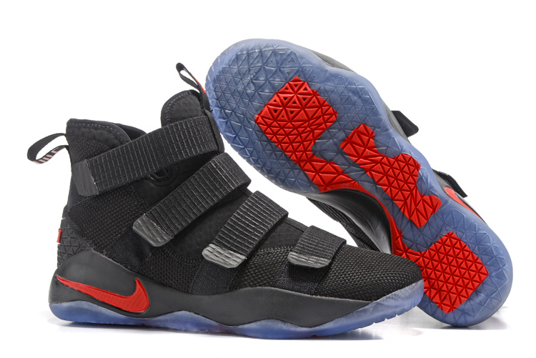 Nike Lebron Solider 11 Black Red Shoes