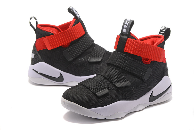 Nike Lebron Solider 11 Black White Red Shoes