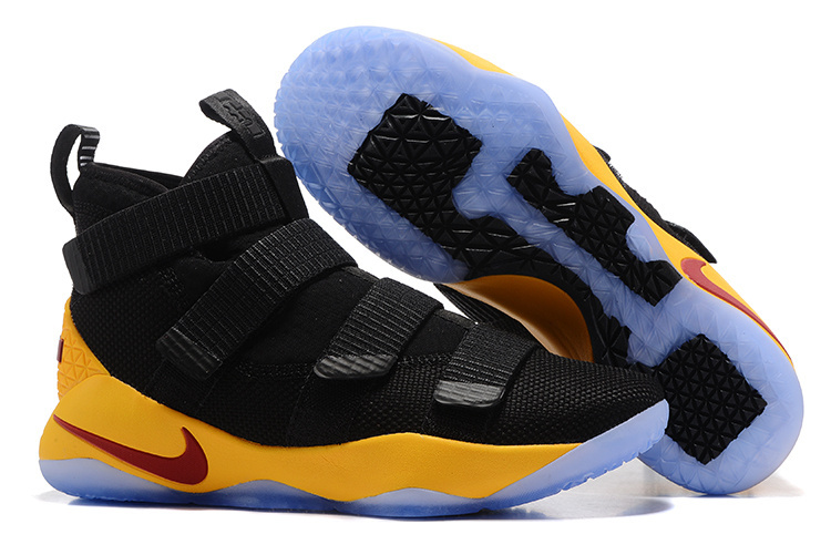 Nike Lebron Solider 11 Black Yellow Shoes