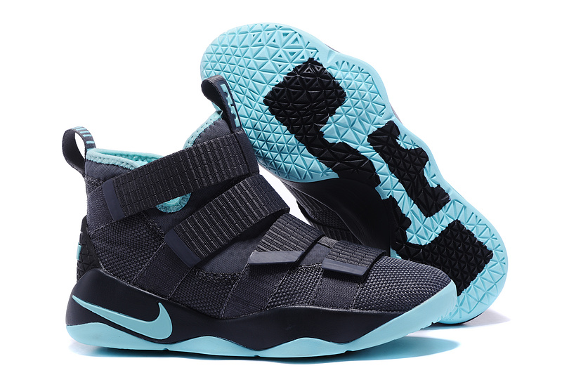 Nike Lebron Solider 11 Grey Icy Blue Shoes