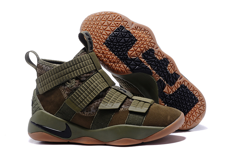 Nike Lebron Solider 11 Olive Green Shoes