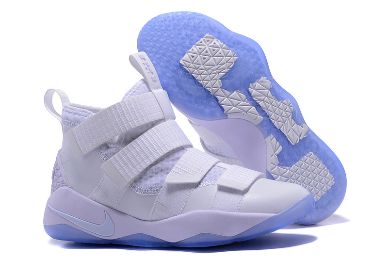 Nike Lebron Solider 11 White Basketball Shoes
