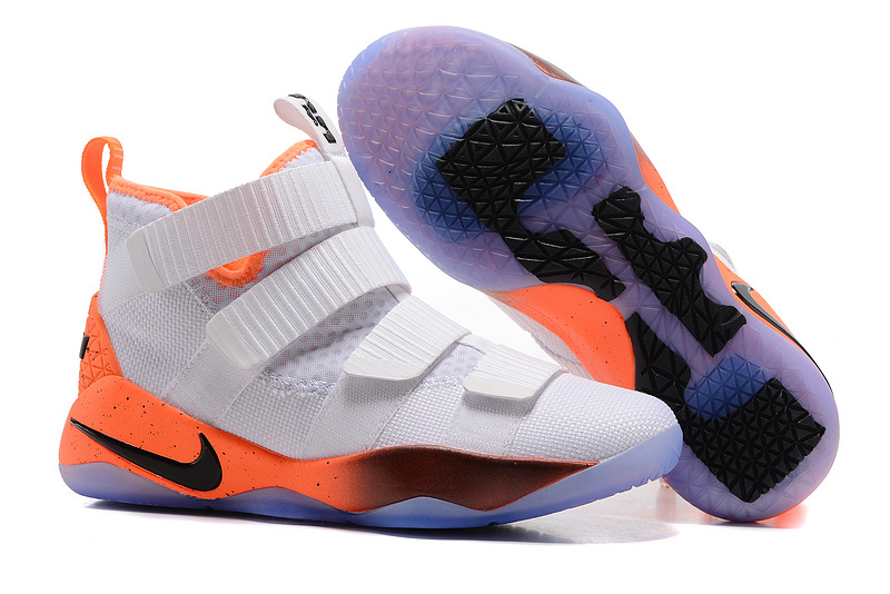 Nike Lebron Solider 11 White Orange Black Shoes