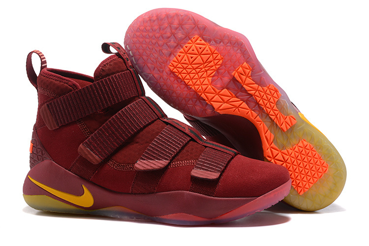 Nike Lebron Solider 11 Win Red Gloden Shoes