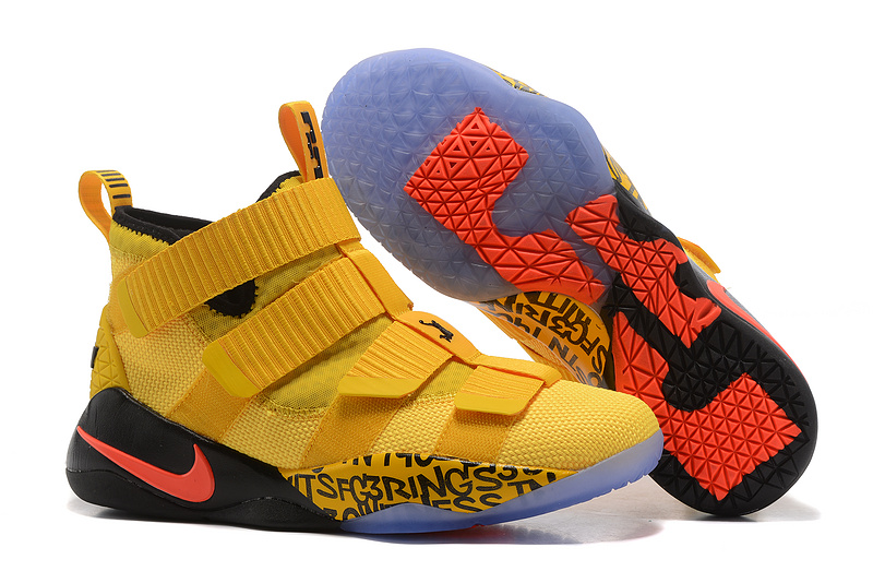 Nike Lebron Solider 11 Yellow Black Shoes