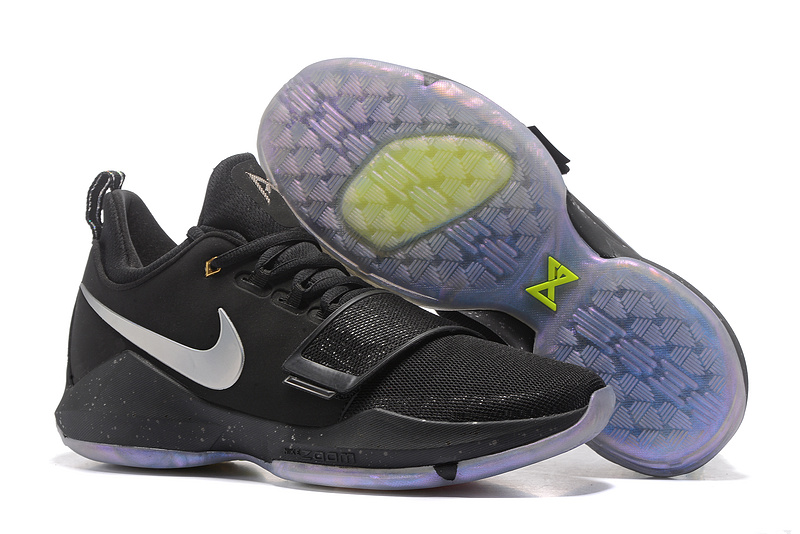 Nike Paul George 1 Black Cool Colors Shoes