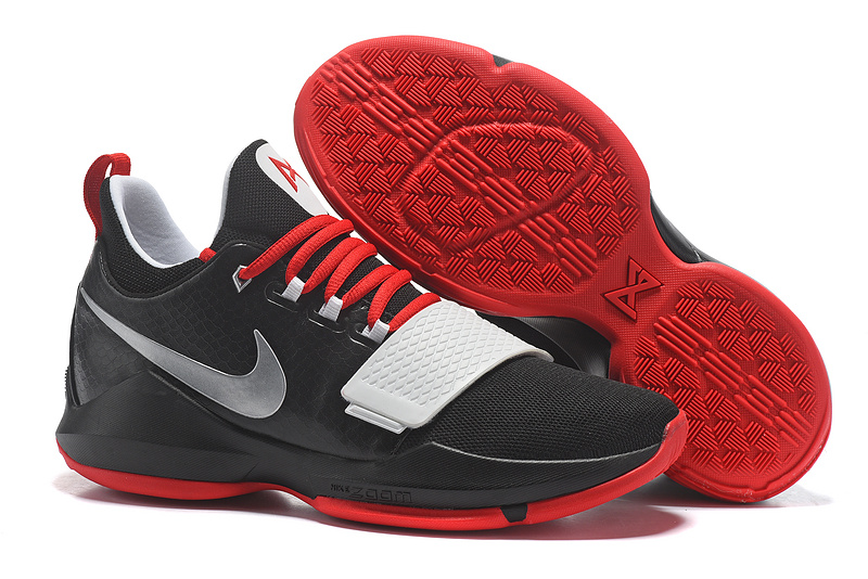 Nike Paul George 1 Black Red Shoes