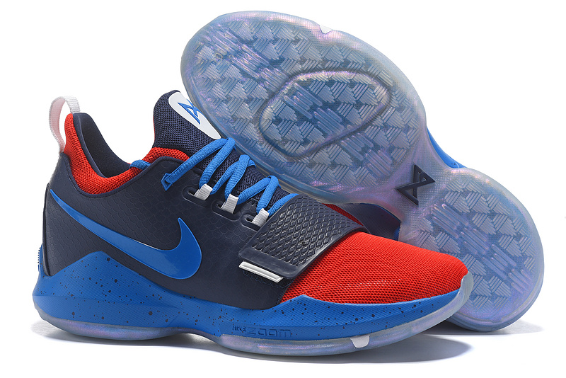 Nike Paul George 1 Dark Blue Red Shoes