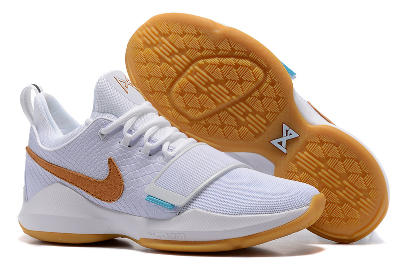 Nike Paul George 1 Ivy White Shoes